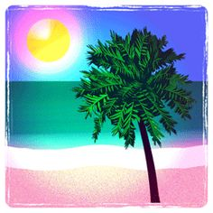 Free Clip Art Sunset BeachOcean