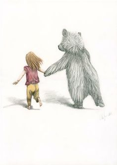Running away with the circus Bear Print by WinterAvenuePress, $49.00