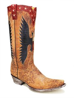 LADIES OLD GRINGO WHERE EAGLES FLY BUG WESTERN BOOTS -