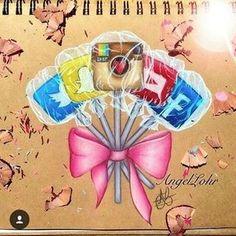 Social media lolipops...by @colour_me_angel #art #artworks #artist #colours #colourful #colour #lolipops #instagram #twitter #snapchat #facebook #youtube #socialmediaartgallery #socialmediaarts
