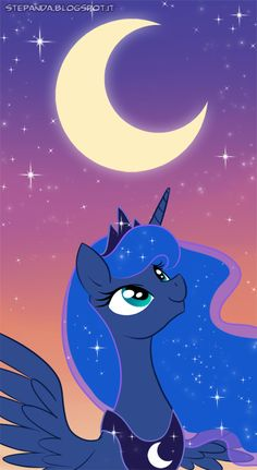 oh most wonderful of nights ! Princess Luna by StePandy on deviantART