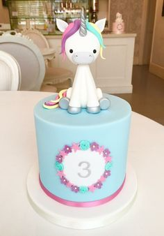 The Cake Parlour Unicorn Cake! Unicorn Cake Topper, Unicorn Cakes, Unicorn Head, Rainbow Unicorn, My Little Pony Cake, Animal Cakes, Chocolate Decorations, Girl Cakes, Love Cake