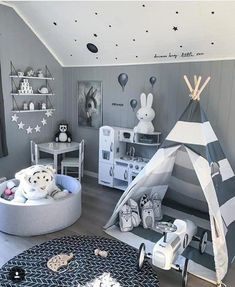 SHOP THE LOOK: Kids Room Decor Ideas to Inspire We all know how difficult it is to decorate a kids bedroom. A special place for any type of kid, this Shop The Look will get you all the kid's bedroom decor ide Baby Bedroom, Baby Boy Rooms, Baby Room Decor, Nursery Room, Kids Bedroom, Bedroom Decor, Childrens Bedroom Ideas, Teen Rooms, Room Baby