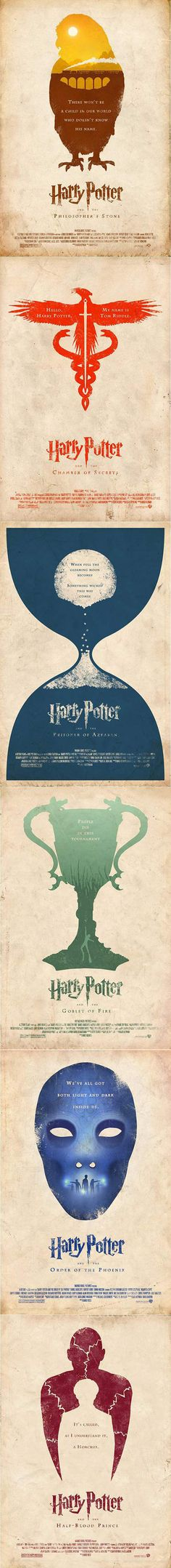 Less is more...and here are some minimalist Harry Potter movie posters.