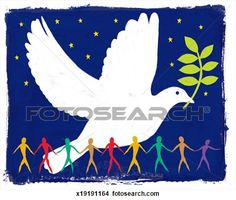 Peace Dove illustration View Large Photo Image