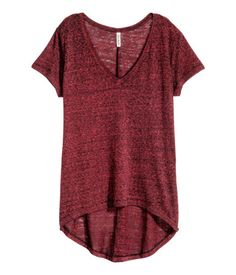 Top en jersey | Rouge foncé | Ladies | H&M CA