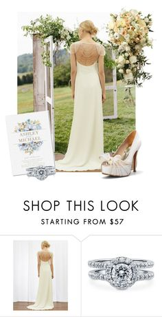 """""""Less is More"""" by joyfulnoise1052 ❤ liked on Polyvore featuring Monsoon, BERRICLE, women's clothing, women, female, woman, misses, juniors and wedding"""