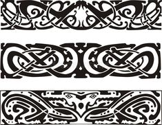 Celtic knot designs with snakes and dragon. Knot designs in celtic style with snakes and dragon. black and white vector illustrations. Doodles Zentangles, Pattern Images, Pattern Design, Design Celta, Grafic Art, Celtic Knot Designs, Viking Tattoos, Celtic Art, Black And White Illustration