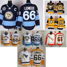 cb947e857 Aliexpress.com   Buy custom Pittsburgh Penguins Throwback Hockey Jerseys   66 Mario Lemieux Jersey Home away Vintage Stitched Jerseys C Patch from  Reliable ...
