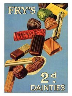1930's Chocolate Advertising - Fry's Dainties