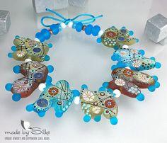 Handmade lampwork beads  freeformed   S um m e r  by calypsosbeads, $108.00