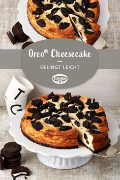 Oetker Rezepte - Oreo® Cheesecake: A delicious American cheesecake with Oreos® and cake buff - Authentic Mexican Recipes, Dessert Simple, Healthy Desserts, Easy Desserts, Dessert Recipes, Easter Recipes, Cake Recipes, Brownie Recipes, Oreo Cheesecake