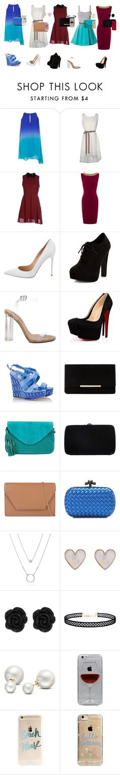 """party"" by maria-ines-dias on Polyvore featuring Anonyme Designers, Gianvito Rossi, New Look, YEEZY Season 2, Fratelli Karida, Dune, Cocobelle, Sergio Rossi, MaxMara and Bottega Veneta"