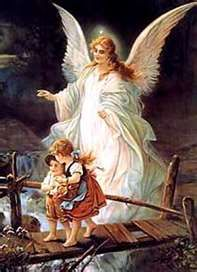 Guardian angels...This picture was haning on the wall beside my bed when I was a child. And I remember looking at it every night before I went to sleep. Nice memory!!!