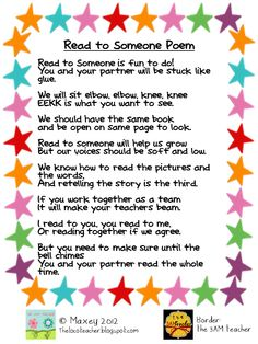 Read to someone poem