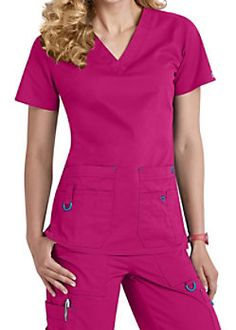 Med Couture Rescue Utility Tops - Azalea/Harbor Blue - The new Rescue scrub top from Med… Scrubs Outfit, Scrubs Uniform, Discount Scrubs, Beauty Uniforms, Iranian Women Fashion, Medical Scrubs, Nurse Scrubs, Medical Uniforms, Womens Scrubs