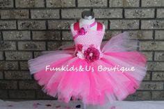 Shade of Pink Tutu Dress Pink Hot Pink Tea by FunkidsandUsBoutique