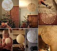 DIY Lace Lamp