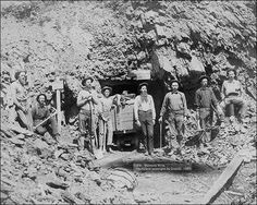gold mines from the old west. | Montana Mine Old West 1889 Gold Miners Photo Print for Sale