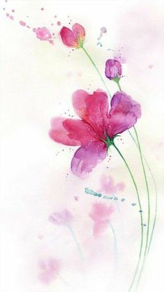 Lucia Aresi artist watercolor on satin paper- Lucia Aresi Künstler Aquarell auf Satinpapier Lucia Aresi artist watercolor on satin paper – – - Watercolor Cards, Watercolour Painting, Watercolor Flowers, Painting & Drawing, Watercolors, Floral Watercolor Background, Flower Wallpaper, Flower Art, Flower Ideas