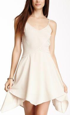 Handkerchief Hem Sleeveless Dress