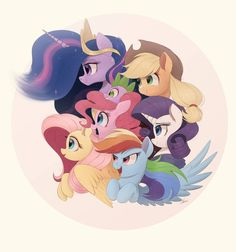 Friendship Is Magic by NCMares on DeviantArt My Little Pony Comic, My Little Pony Drawing, My Little Pony Pictures, Princesa Twilight Sparkle, Inside Games, Imagenes My Little Pony, My Little Pony Merchandise, Mlp Pony, Cartoon Shows