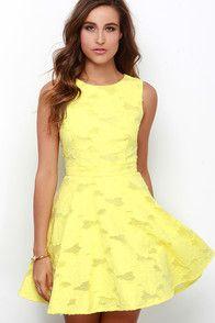 Get Glowing Yellow Dress