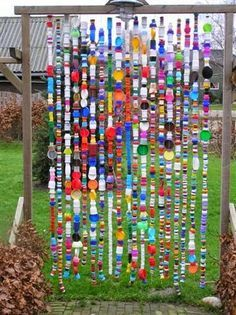 A bit of garden whimsy ... made of bottle caps