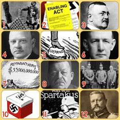 Weimar Germany printable learning grid | jivespin