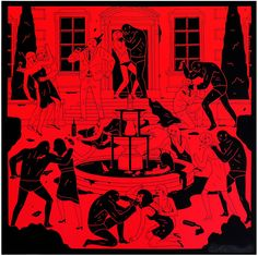 """Cleon Peterson """"End of Empire""""  -28""""x28"""", screen print"""