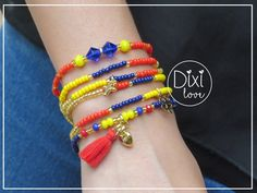 Hermosas pulseras inspiradas en nuestro bello tricolor, llenas de amor y pasión por nuestro país,