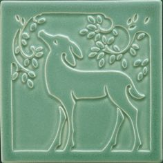 Arts and Crafts tiles ~ Deer