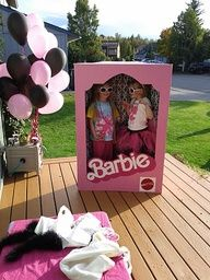 My Barbie Box Photo Booth Prop in use! i-pinned-it-then-i-did-it