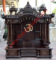 Captivating Wooden Temple / Mandir Home Indian Design Small Wooden Mandir Hand Carved  Teakwood Home Temple Designs