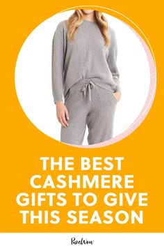 This year, we're planning to stick to gifting items of the cashmere variety. After all, we've never met a person who doesn't like the supersoft, long-lasting fabric. #best #cashmere #gifts Cashmere Robe, Cashmere Gloves, Cashmere Sweaters, Fifth Avenue Collection, Family Presents, Kimono Fashion, The Chic, Knit Patterns, Chic Outfits