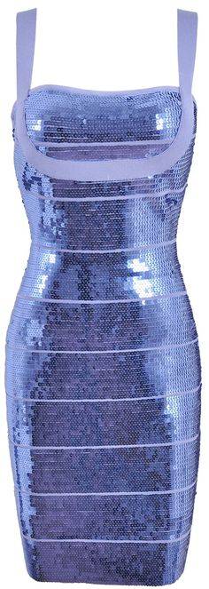 'Celeb' Lilac Sequin Bandage Dress