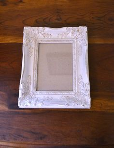 Shabby Chic Vintage Picture Frame White Upcycle by LittlestSister, $15.00