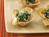 Spinach goat cheese tartlets