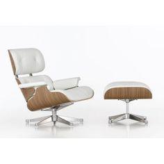 Lounge Chair Ottoman Vitra noyer blanc H89    http://www.ideesboutique.com/fauteuils/8317-lounge-chair-ottoman-vitra-noyer-blanc.html