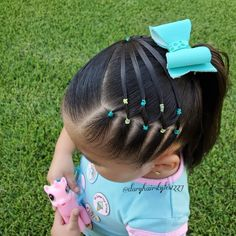 Image may contain: one or more people, grass and outdoor Lil Girl Hairstyles, Easy Toddler Hairstyles, Baddie Hairstyles, Hairstyles With Bangs, Braided Hairstyles, Toddler Hair Dos, Little Girl Braids, Girls Braids, Girl Hair Dos
