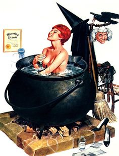 Witch pin-up