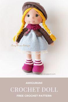 TonTon Doll and Tilda Bunny Free English Pattern Doll Amigurumi Free Pattern, Crochet Amigurumi Free Patterns, Crochet Toys, Free Crochet, Turtle Crafts, Craft Patterns, Stuffed Toys Patterns, Handmade Toys, Crochet Projects