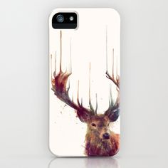 Red Deer // Stag iPhone & iPod Case by Amy Hamilton - $35.00