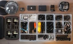 Sometimes you just gotta re-organize your #cameragear check out the tags in photo to see some of the gear I use. #gopro