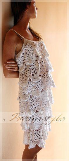 TENDANCES de la mode au CROCHET Crochet robe par Irenastyle sur Etsy