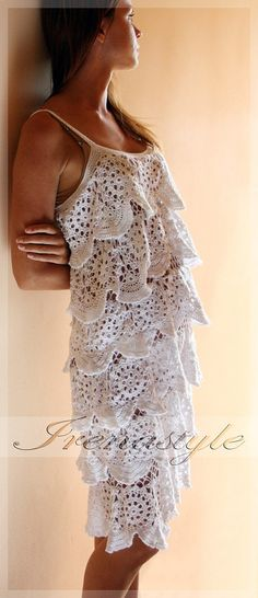 MADE TO ORDER  Crochet Dress  custom made hand made by Irenastyle,