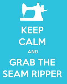 Keep Calm and Grab the Seam Ripper Printable Sewing Room Decor, My Sewing Room, Sewing Rooms, Sewing Art, Sewing Hacks, Sewing Tutorials, Sewing Tips, Sewing Ideas, Sewing Patterns