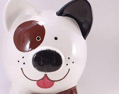 Cachorro de perro Dalmation hucha alcancía personalizada   Etsy