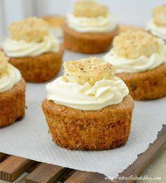 Postres Saludables   CupCake de Banano sin azúcar, preparados con harina de avena   http://www.postressaludables.com