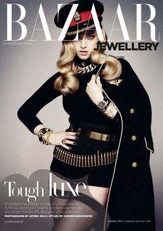 Dangerously Seductive Soldier Editorials - The Marcelina Sowa Harper's Bazaar UK Shoot is Assertive (GALLERY)